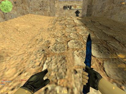 Blue future knife reskin