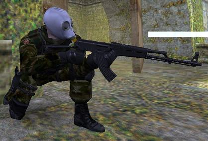 Скачать модель SAS - В голубом противогазе.