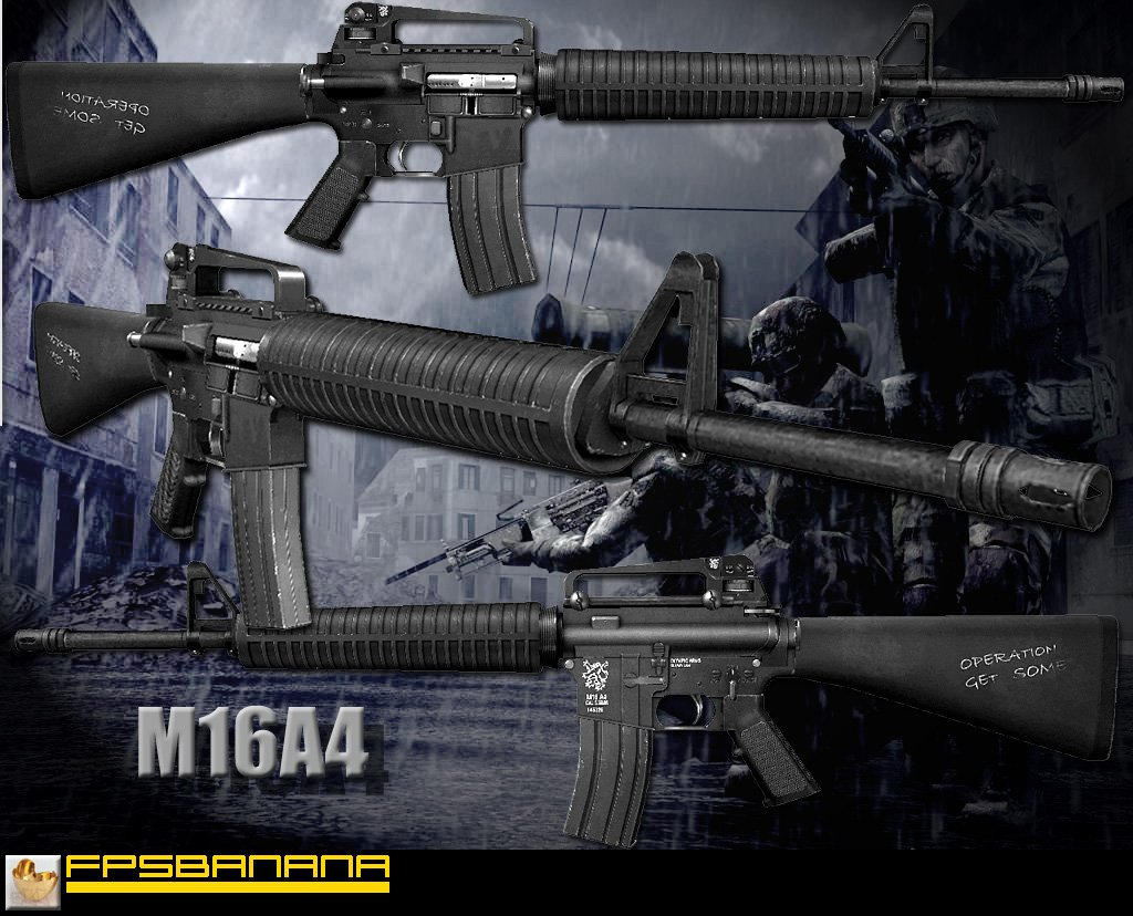 M16A4 for M4A1 w/Mullets Anims