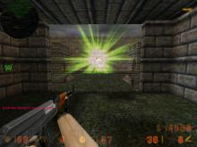 Green flare explosion sprite